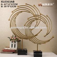 Or en acier inoxydable d'autres articles de décoration de maison fabriqués en Chine haute statue d'artisanat en métal