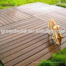 Revestimento exterior da madeira contínua de carvalho vermelho claro do Decking