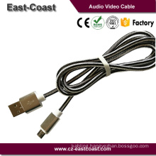 High quality Nylon braid Micro USB Data and Charging Cable For Android