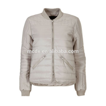 más tamaño nuevo diseño chaqueta de poliéster para las mujeres 2014