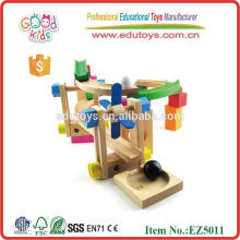 Roller Coaster de madera bloquea el bloque de juguete