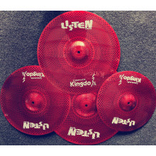 Red Low Volume Alloy Silence Cymbals Set