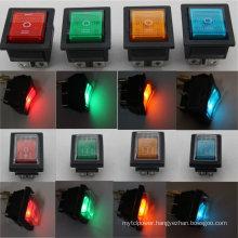 12V 24V 110V 250V Green Red Blue Yellow 6 Pin Water Proof Rocker Switch