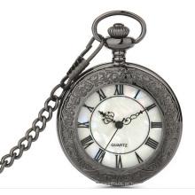 Relógio de presente de bolso de movimento de quartzo de Design de moda