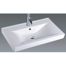 Rectangular Bathroom Ceramic Vanity Basin (9060C)