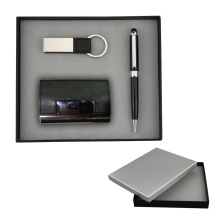 Gift set for namecard holder &keychain and pen