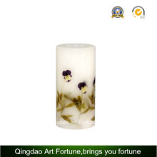 Handmade Flower Decor Design Pillar Candle