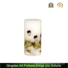 Handmade Flower Decor Design Pillar Candle