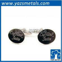 подгоняйте металл запонки, пользовательские высокого качества гребень выгравированы запонки