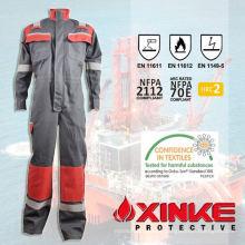 terno de coverall retardador de chama de algodão para trabalhador