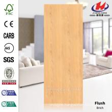 JHK-F01 Flush Smooth Straight Line Natural Brich Nigeria Veneer Hot Sale HDF Doorskin Manufacture