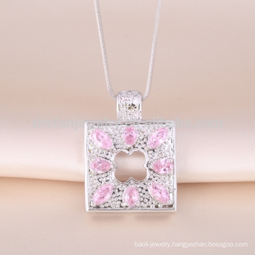 Fashion latest big square pendant design 18k gold pendant