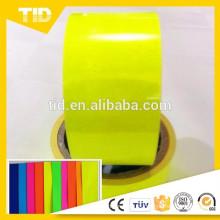 Película autoadhesiva del vinilo del amarillo del vinilo fluorescente de 1x30M