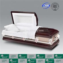 LUXES enterro caixões de madeira para cremação Colord vermelho flor caixão