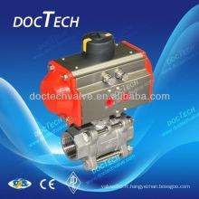 Robinet à boisseau sphérique actionneur pneumatique DIN 3202