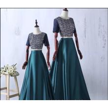 2017 Sexy eine Linie Perle Vestidos De Fiesta Abendkleider Frauen