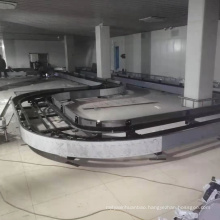 airport departure area baggage handling system