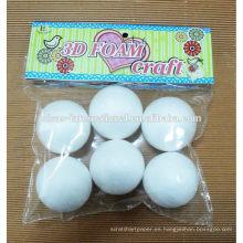 al por mayor para niños artesanías blancas diy con bolas de espuma de poliestireno