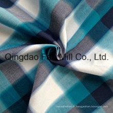Tissu teinté teint en fil de coton (QF13-0220)