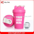 400ml Plastic Protein Shaker Bottle with Blender Mixer Ball Inside (KL-7011)