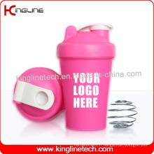 Bouteille de plastie à protéines en plastique de 400 ml avec mélangeur à bille intérieur (KL-7011)
