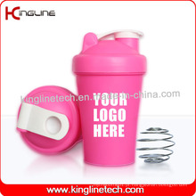 Garrafa de plastilina de proteína de 400ml com o interior da bola do misturador de misturador (KL-7011)