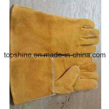 Trabajo de seguridad industrial de cuero de vaca Split cuero guantes
