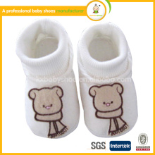 2015 100% Organic Cotton animal pattern winter infant kids and baby boot Shoes for girl