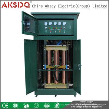 Produit vendu à chaud Système de stabilisation ou régulateur de tension compensé automatisé automatique à 3 phases 500kva pour hôpital Yueqing