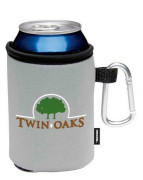 Collapsible Koozie Can Cooler with Carabiner