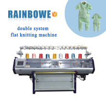 Nova condição de alta velocidade de alta qualidade automática sistema duplo informatizado plana máquina de tricô preço