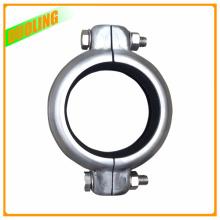 304 e 316 acoplamentos sulcados do conector da tubulação da braçadeira do aço inoxidável
