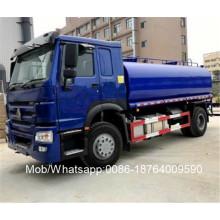 Camión cisterna de agua de acero al carbono HOWO 15000L