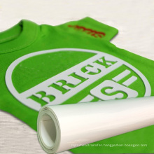 Custom wholesale textiles htv rolls 3d Silicone vinyl heat transfer for T-shirts logos