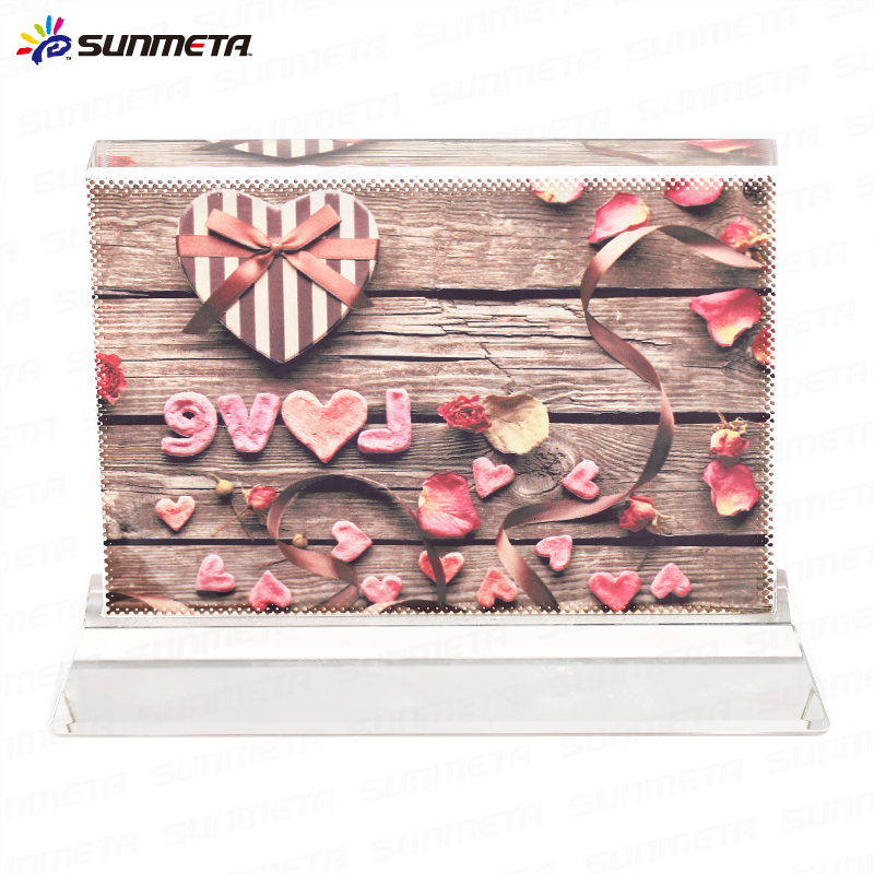 FREESUB Heat Transfer Crystal Blanks Glass Photo Frame