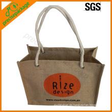 hochwertige natürliche Geschenktüte Einkaufstasche Jute Tasche