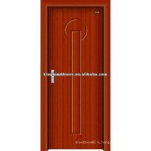 Простой дизайн деревянные двери с ПВХ лист двери (JKD-8001) для интерьера комнаты используется