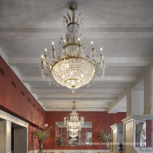 Modern LED luxury chandeliers large crystal chandelier for banquet hotel meeting room