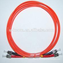 ST / ST MM Duplex 2.0mm Fibra óptica Patch Cord