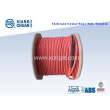 Kevlar amarração corda com PU dedal