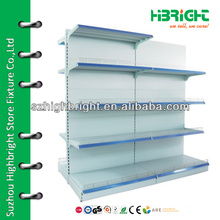 supermarket goods shelf high gondola with top cover