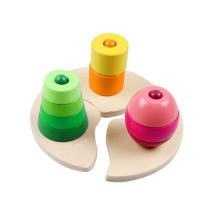 Holz Triple Stacking Block Spielzeug für Kinder und Kinder