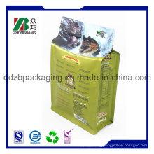 Hot Selling Flat Bottom Ziplock Side Gusset Pet Food Bag