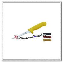 U407-1 5'' Boning Knife With Yellow Plastic Handle