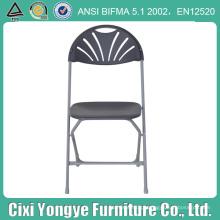 Cadeira de dobradura plástica cinzenta do assento comercial para o partido