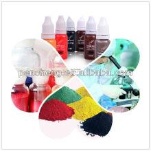 Proveedores de pigmento de tatuaje y proveedores de pigmento OEM y óxido de hierro libre de maquillaje permanente tatuaje de tinta y tinta de la ceja de Inglaterra KAIY