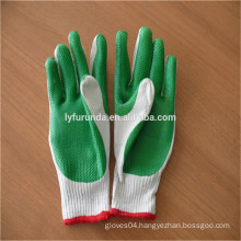 FURUNDA 7 gauge liner laminated with rubber on palm gloves/Safety working gloves/latest rubber work gloves thicken
