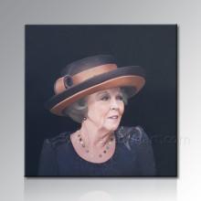 Peinture à l'huile de toile de portrait de femme