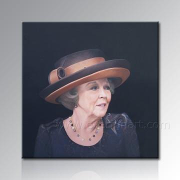 Frauen-Portrait-Segeltuch-Ölgemälde