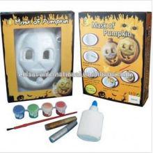 Halloween-Kürbismaske, handgemachte Maske der Malerei DIY, Aquarellmalereimaske